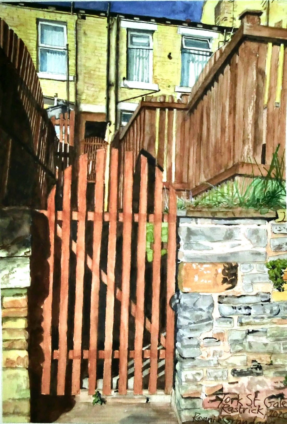 gallery/Members_Paintings/Ronnie_Grandage/2020%20Gates%2C%20York%20St%2C%20Rastrick.JPG